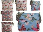 Medium Large Canvas Messenger Bag Cupcakes Butterfly