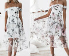 New Fashion Women Lady Summer Printed Flower Dress Casual Party Club Gift