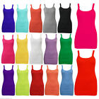 WOMENS SUMMER BEACH HOLIDAY CAMI VEST SLEEVELESS TOP STRAPPY LADIES S M L XL