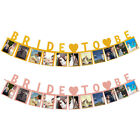 1set Bride To Be Photo Banner Frame Picture Wedding Party Bunting Hanging Decor