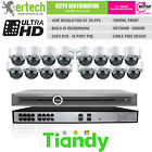Tiandy 4MP H.265 POE Mic 8/10/12/14/16 IP Camera CCTV Kit Shop Security System