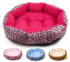 Hot sale NEW Colorful Leopard print Pet Cat and Dog bed House Kennel Cushion Mat