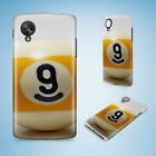 SNOOKER POOL TABLE BALLS 8 HARD PHONE CASE COVER FOR NEXUS 5 5X 6 6P $6.93 USD on eBay