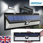 MPOW LED Solar Power Light Waterproof Outdoor Security Wall Lamp Motion Sensor