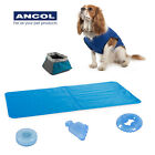 Ancol Cooling Mat Coat Vest Portable Drinking Bowl Hot Weather Cool Paws Toy
