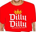DILLY DILLY True Friend of the Crown adult RED T SHIRT big D D crown bud light
