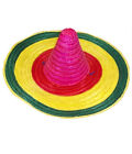 Unisex Fancy Colored Mexican Straw Hat Adults Beach Pool Party Dress Accessory