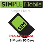 Simple Mobile SIM w/$50 PLAN X 3 Months Included! (Number Port in)