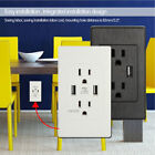 electrical socket usb - 2 USB Port Electrical Outlet Panel Wall Plug Socket Charger AC Power Receptacle