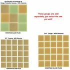 "50 - 3/4"" Venetian Tan Glass Mosaic Tiles for your Project (Pick you Group) #1"