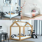 Treehouse Style Kids White or Pine Finish Wooden Single Bed Frame