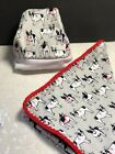 baby boston terrier - Boston terrier chair throw or swaddle or toddler blanket or beanie cotton knit