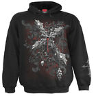 SPIRAL DIRECT CROSS OF DARKNES Hoody/Tattoo/Goth/Skull/Reaper/Darkwear/Vamp/Hood