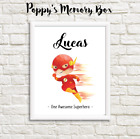 Personalised Boys Superhero Nursery New Baby The Flash Birthday Gift Print