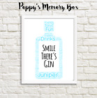 Gin Gift Word Art Birthday Print or Card Friend, Christmas, Secret Santa, BFF