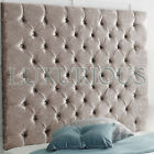 Chesterfield High Wall Panel Crushed Velvet Headboard - Choose size and Colour