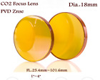 "1PCS CO2 PVD ZnSe Focal Lens Dia. 18mm for CO2 Laser Cutting Machine FL:1"" - 4"""
