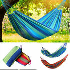 Hammock Portable Cotton Rope Outdoor Swing Fabric Camping Canvas Bed Bag 2 Color