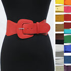 Внешний вид - Retro 80's Mod Classy Leather Wide Elastic stretch Waist Belt Dresses Jackets
