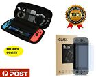 Premium Quality 2 Pack Tempered Glass Screen Protector & Case Nintendo Switch