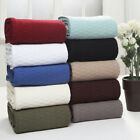 All Season Soft Premium Cotton Throw Blanket, Diamond Design, 10 Colors image