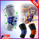 Knee Brace Compression Protection Silicone Spring Meniscus Support Pain Relief Z