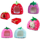 Pet Supplies Cats Dog House Cute Strawberry Animal Soft Cave Foldable Puppy Bed