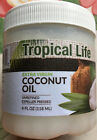 TROPICAL LIFE EXTRA VIRGIN COCONUT OIL UNREFINED EXPELLED PRESSED 4F L OZ,1,2,3