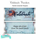 4th of July Party Favors Patriotic Candy Bar Wrappers SET of 12