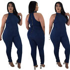 Casual Womens Bodycon Jumpsuit Jeans Denim Rompers Overalls