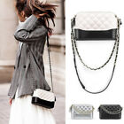 Small Mini Quilted Faux Leather Single Shoulder Bag Crossbody Chain Purse Cute