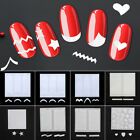 48 Stickers 3 Sheet Nail Art French Tips Guide Stencil Manicure Form sheets UK
