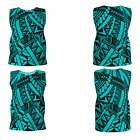 Ori Active All over Samoan Tattoo Pattern Loose Fitting Tank Top - 8 Colors