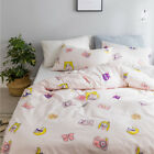 Sailor Moon Unicorn Anime Washed Cotton Bed Sheet Quilt Cove