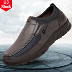 US Mens Summer Leather Casual Shoes Wear resisting Antiskid Loafers Moccasins