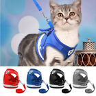 Kitten Cat Walking Jacket Harness Leash Adjustable Small Dog Vest for Pets Puppy