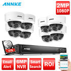 ANNKE 8CH / 4CH 6MP NVR POE 2MP 1080P IP Security Camera Sys