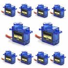 10x SG90 9G Micro Servo Motor RC Robot 180° Helicopter Airplane Remote Control