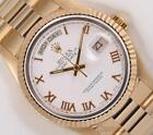 rolex day date 2 - Rolex Day-Date President 18k Solid Yellow Gold 18038 Watch-White Roman Dial-2WTY