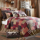 Wyatt Patchwork Queen,King Quilts-All Sizes-Choose Accessories-Lodge-Pillows