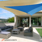 Blue Deluxe Right Triangle Sun Shade Sail Outdoor Canopy Patio Top Awning Lawn