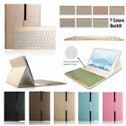 7 Color Backlit Bluetooth Keyboard Case Cover Kit For Samsung Galaxy Tab S2/S3/A