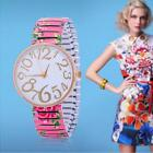 fashion women watches For Geneva stretch band flower dial floral printed hot WE