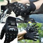 Motorcycle Riding Racing Bike Protective Armor Full Finger Leather Gloves M L XL