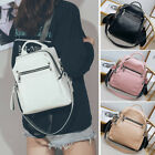 Convertible Faux Leather Small Backpack Rucksack Shoulder bag Purse Hobo