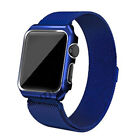 For Apple Watch Milanese Stainless Steel iWatch Band Strap Cover Case Colorful