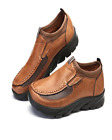 Slip on Boat ShoesMen Hand Stitching Microfiber Leather Non Slip Sneakers New