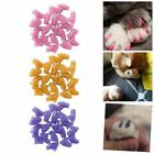 20Pcs Pet Dog Cat Puppy Paw Claw Nail Caps Cover Grooming Rubber Nail Protect US