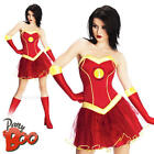 Superhero Rescue Ladies Fancy Dress Iron Man Avengers Womens Costume Outfit New