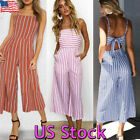 women club outfits - Women Backless Top Jumpsuit Sleeveless Party Club Wide Leg Pant Romper Outfits